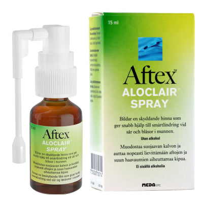 AFTEX ALOCLAIR SPRAY AFTOIHIN JA SUUN HAAVAUMIIN 15 ML
