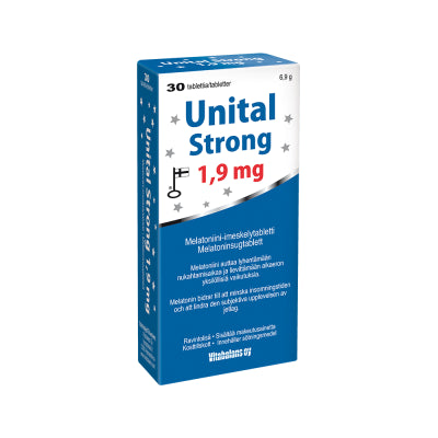 UNITAL STRONG 1,9 MG MELATONIINITABLETTI 30 TABLETTIA