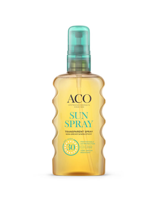 ACO SUN TRANSPARENT SPRAY AURINKOSUOJASUIHKE HAJUSTEETON 175 ML