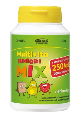 MULTIVITA JUNIORI MIX MONIVITAMIINI 250 PURUTABLETTIA