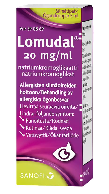 LOMUDAL 20 mg/ml silmätipat, liuos, 5 ml