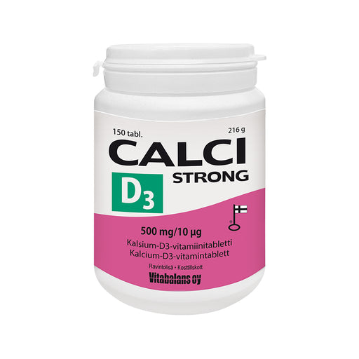 CALCI STRONG + D3 500MG/10MIKROG 150 TABLETTIA