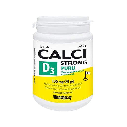 CALCI STRONG +D3 PURUTABLETTI 120 TABLETTIA