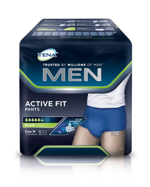TENA MEN ACTIVE FIT PANTS PLUS M 12 KPL