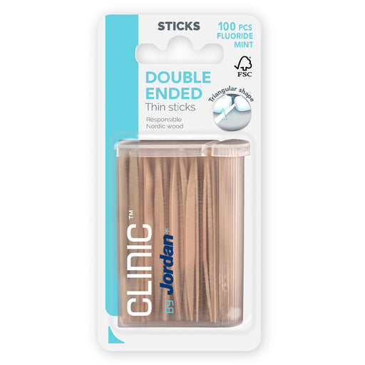 CLINIC BY JORDAN DOUBLE ENDED THIN STICKS HAMMASTIKUT 100 KPL