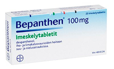 BEPANTHEN 100 mg imeskelytabletti 20 tablettia
