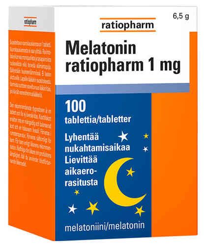 MELATONIN RATIOPHARM 1MG, 100 TABLETTIA
