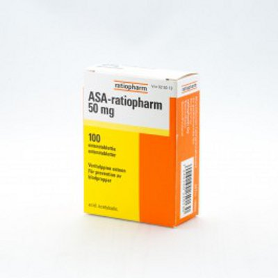 ASA-RATIOPHARM 50 mg enterotabletti 100 tablettia