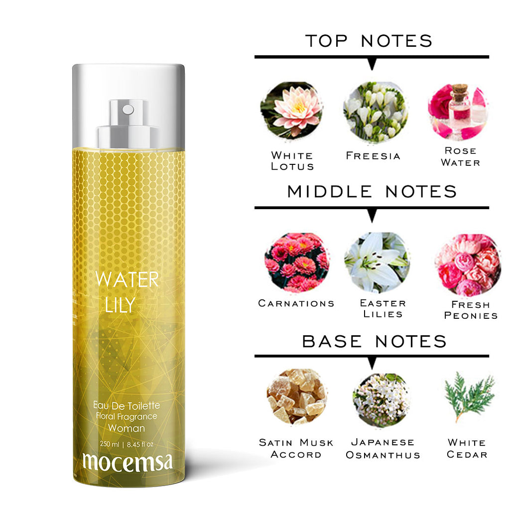 Water Lily EDT For Women - Fresh & Floral Fragrance