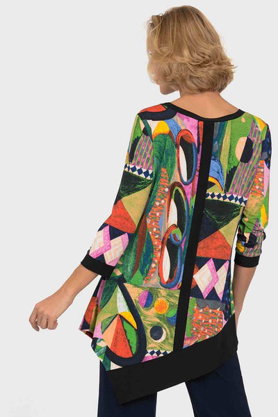 Joseph Ribkoff - Abstract Print Tunic
