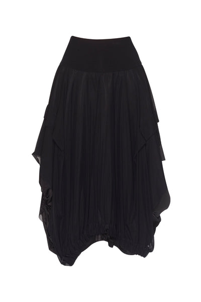 Paula Ryan - Mesh Overlay Balloon Skirt