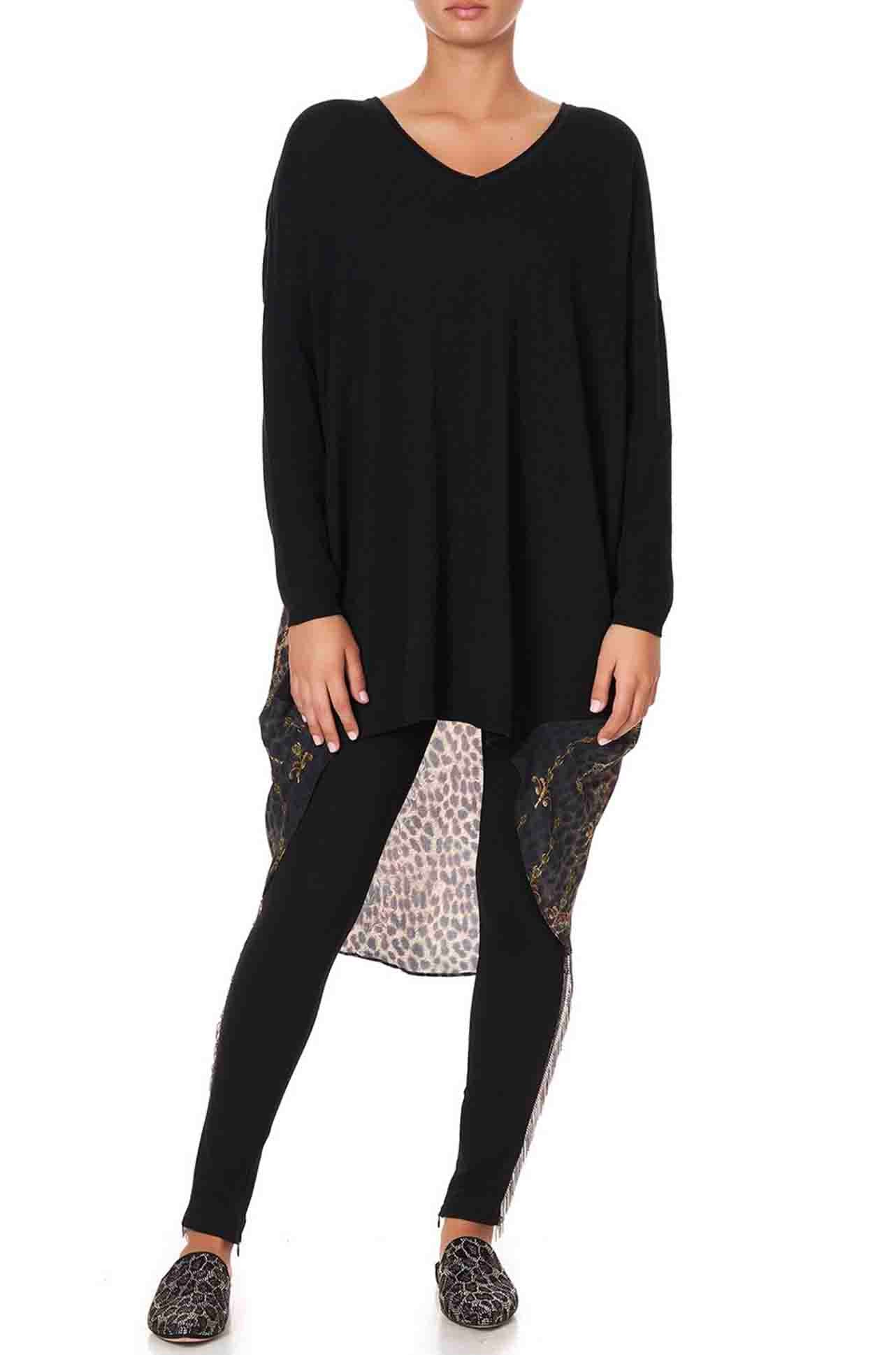 Camilla - Abingdon Palace V Neck Jumper w/ Print Back