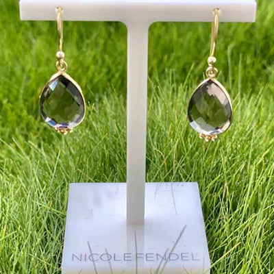 Nicole Fendel - Ada Drop Earring in Smokey Quartz
