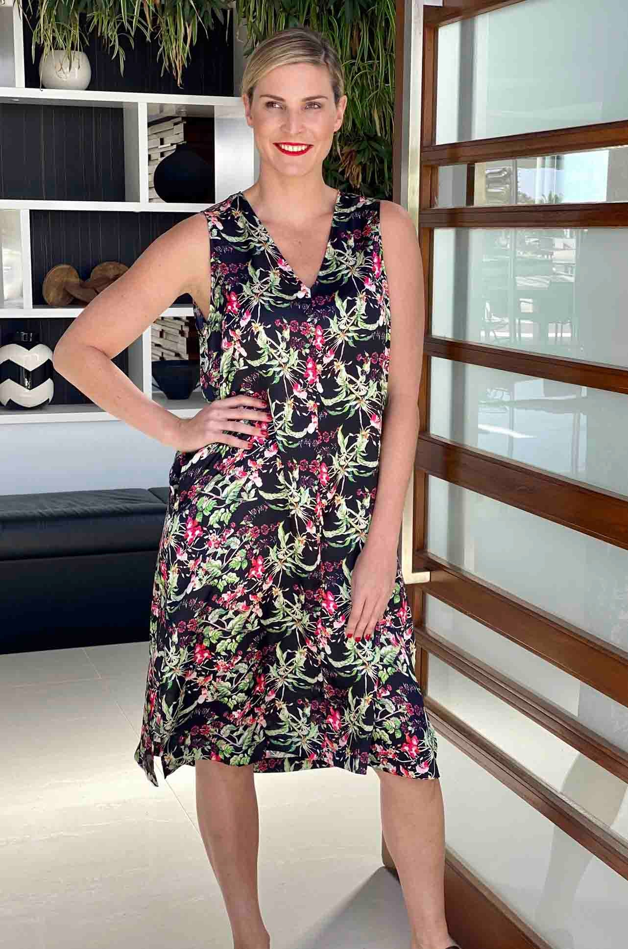 Mela Purdie - Aero Sheath in Honeysuckle Floral Print
