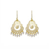 Nicole Fendel Jewellery - Arabella Small Beaded Earring in Soft Gold Milky Agate