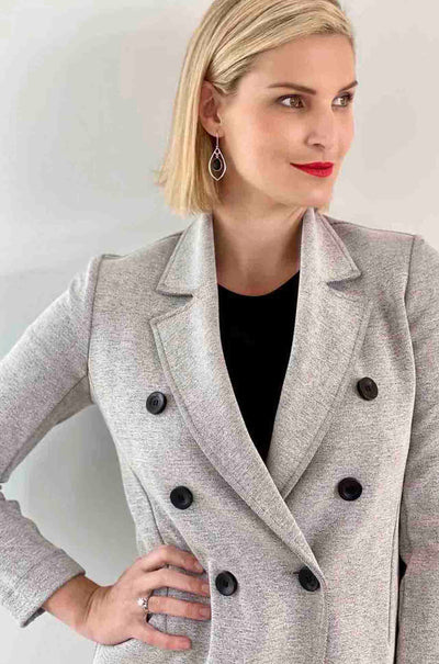 Mela Purdie - Cambridge Blazer in Oxford Knit