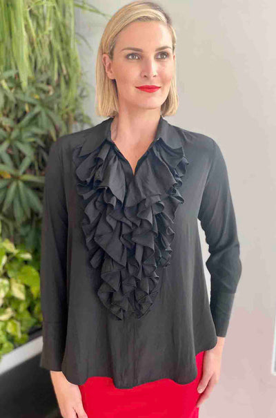 Mela_Purdie_Cathedral_Blouse_Shirt_Top_Black_www.zambezee.com.au