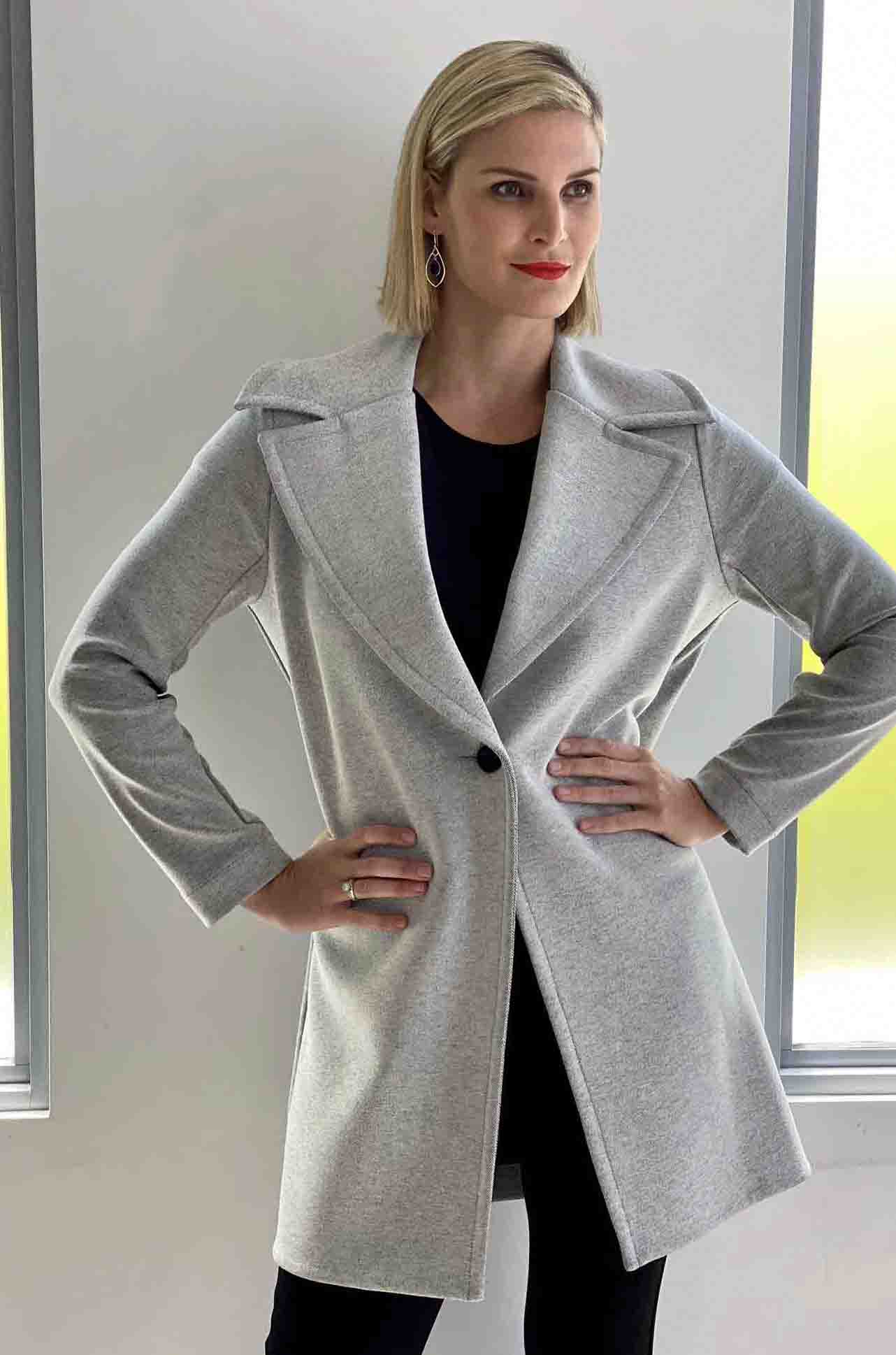 Mela_Purdie_Chapel_Coat_Jacket_Top_Chalk_Black_www.zambezee.com.au