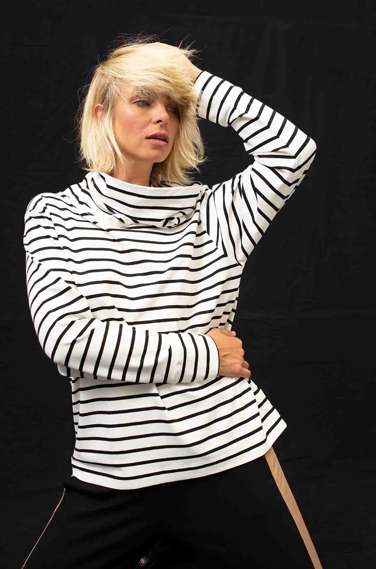 Mela Purdie - Club Sweater in Artisan Stripe