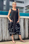 Mara_Gibbucci_Drawstring_Pocket_Dress_Black_www.zambezee.com.au