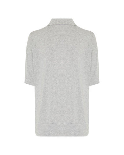 Mela_Purdie_Polo_Sweater_Top_Shirt_White_Black_MistMarl_www.zambezee.com.au