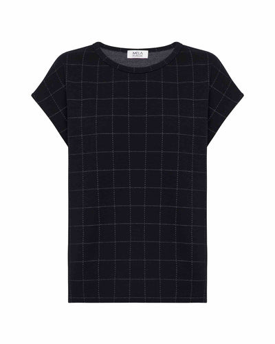 Mela Purdie - Sculpt T in Check Knit