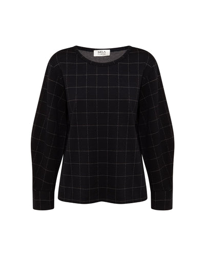 Mela Purdie - Palais Sweater in Check Knit