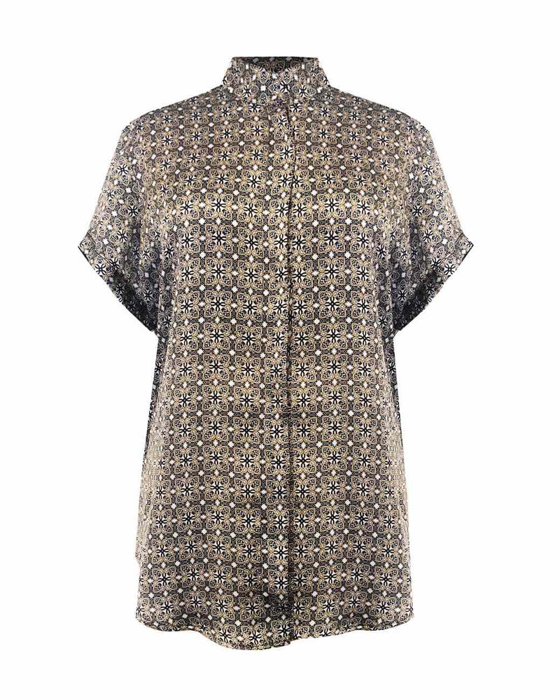 Mela Purdie - Stand Collar Top in Lattice