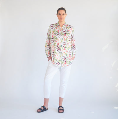 Mela Purdie - Limitless Shirt in Honeysuckle Floral Print