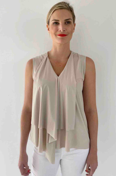 Paula Ryan - Front Frill Sleeveless Top