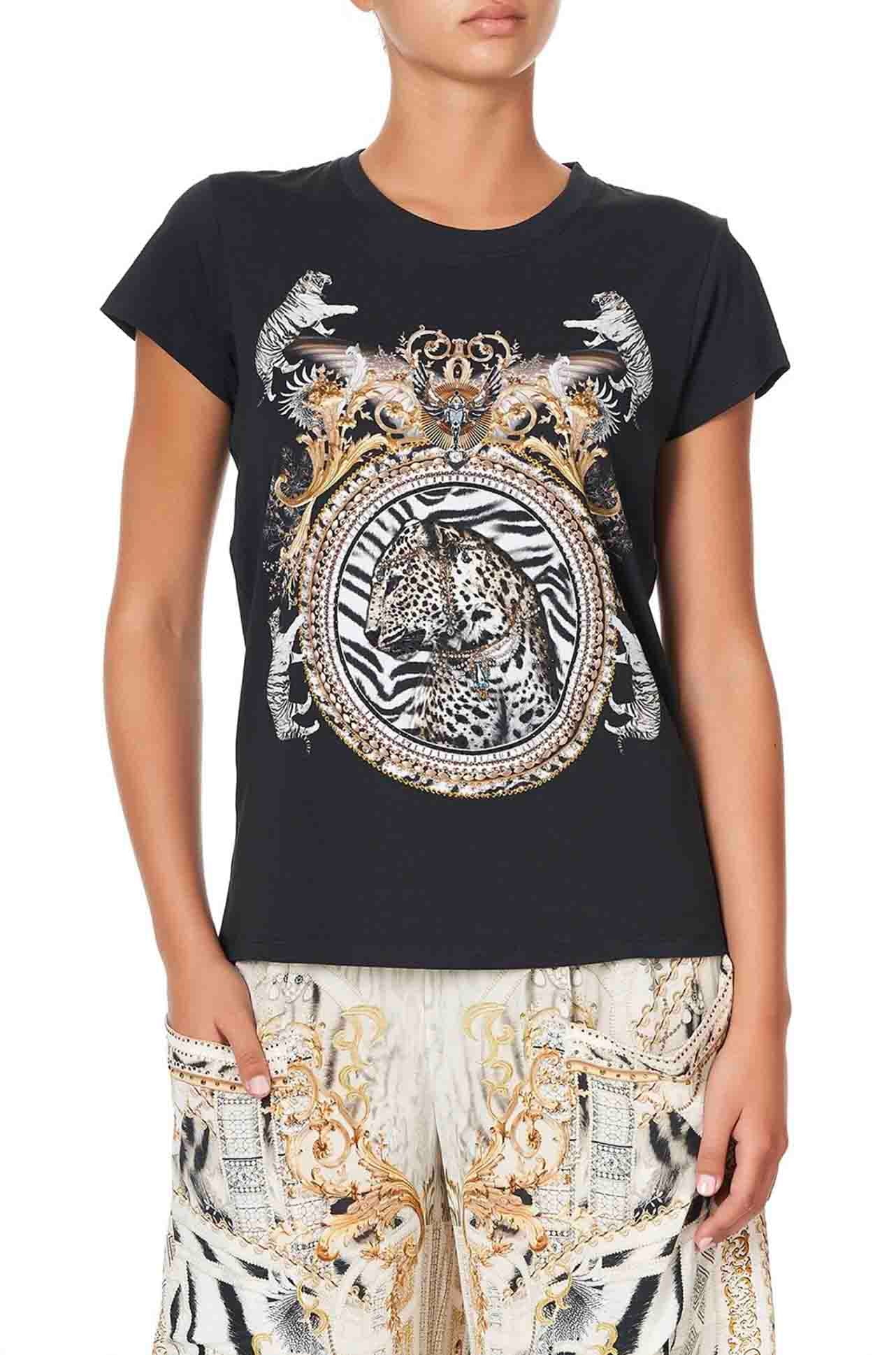 Camilla - Gates Of Glory Slim Fit Round Neck T-Shirt