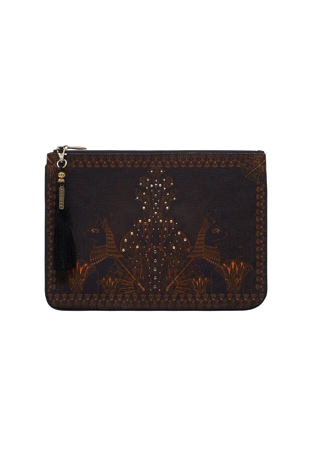 Camilla - Cobra King Small Canvas Clutch