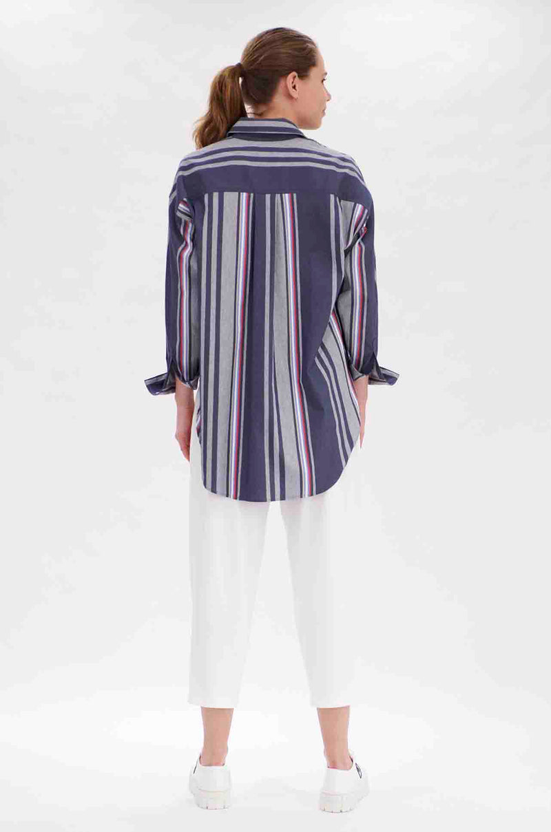 Mela Purdie - Hero Shirt in Trinity Stripe Microprene
