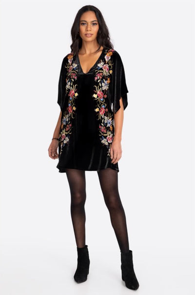 Johnny_Was_Tunic_Isla_Velvet_Kimono_Dress_Black_www.zambezee.com.au
