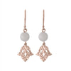 Nicole Fendel Jewellery - Jacintha Beaded Earring in Rose Gold