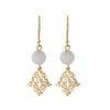 Nicole Fendel Jewellery - Jacintha Beaded Earring in Soft Gold