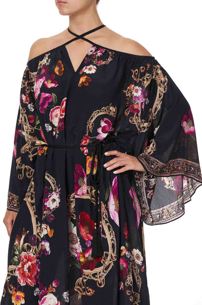 Camilla_Mirror_Mirror_Keyhole_Neck_Long_Kaftan_Dress_One_Size_Silk_www.zambezee.com.au