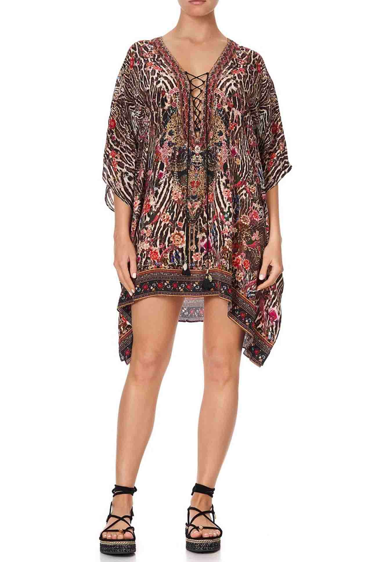 Camilla - Liv A Little Short Lace Up Kaftan