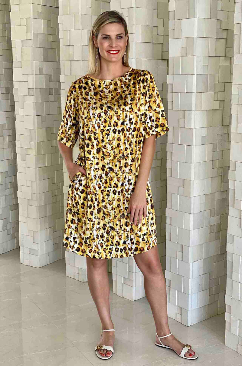 Mela Purdie - Layering Dress in Liquorice Leopard Print