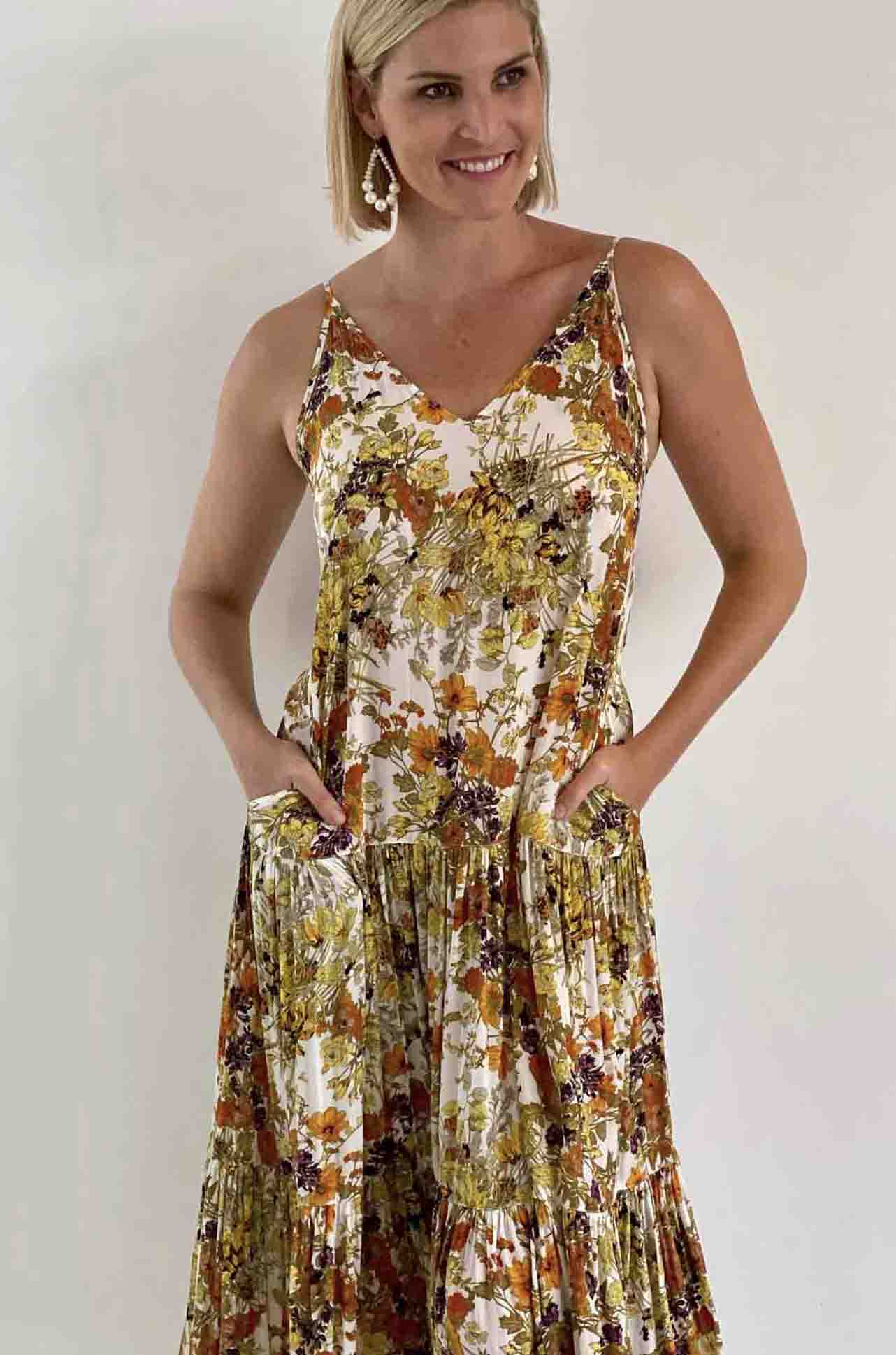 Mela Purdie - Mumbai Maxi Dress in Love Me Floral