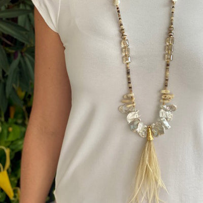 Salita Matthews - Luna Necklace in Blonde/Gold