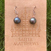 Salita Matthews - Maya Black Orchid Earrings in Rose Gold