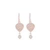 Nicole Fendel - Maya Teardrop Earrings in Rose Gold & Freshwater Pearl