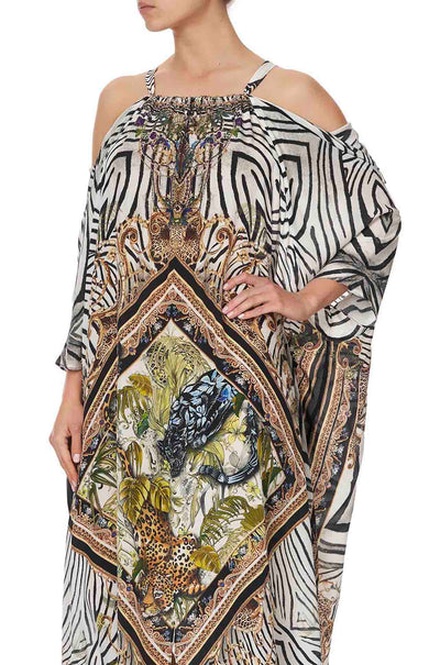 Camilla - Night Waiting For Day Drop Shoulder Kaftan