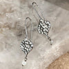 Nicole Fendel - Nina Teardrop Earrings in Silver & White Agate