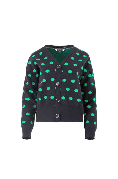 Curate_Trelise_Cooper_On_The_Dot_Cardigan_Green_Spots_Jumper_Top_www.zambezee.com.au