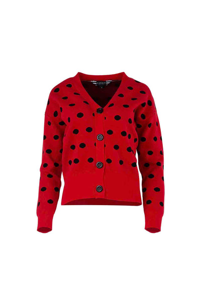 Curate_Trelise_Cooper_On_The_Dot_Cardigan_Jumper_Spots_Top_Red_www.zambezee.com.au