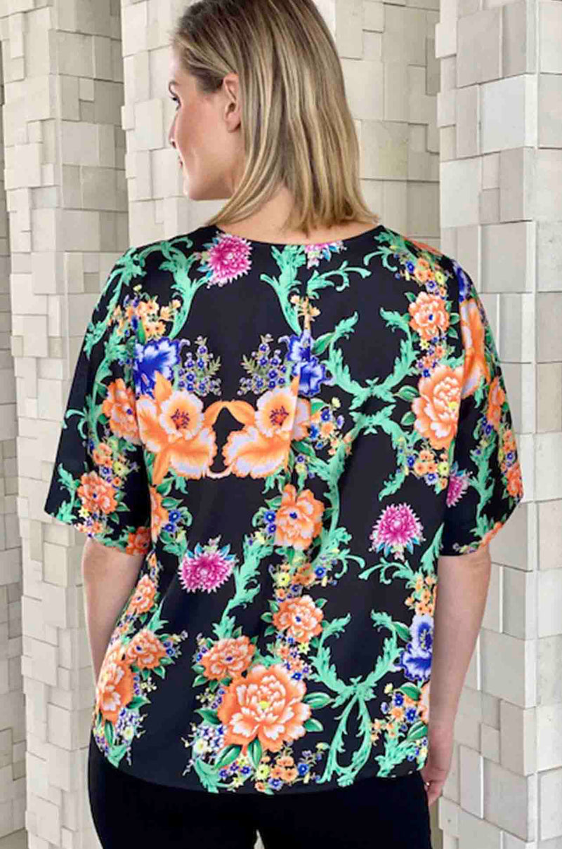 Mela_Purdie_Limited_Edition_Plaza_T_Top_Blouse_Midnight_Garden_www.zambezee.com.au