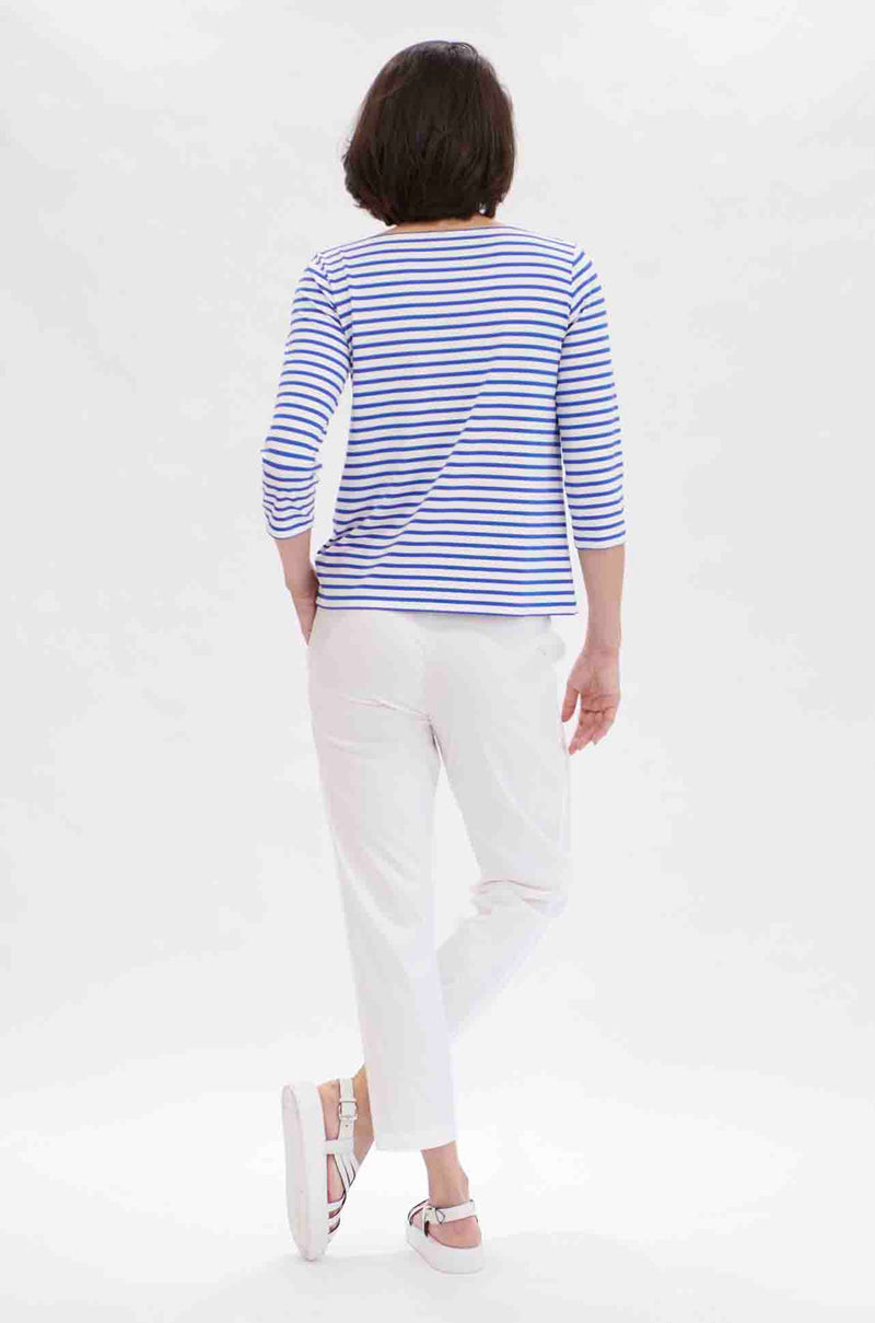 Mela Purdie - Relaxed Boat Neck in Pacific Stripe
