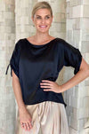 Lisa_Brown_Roxy_Round_Neck_Ties_Top_Blouse_Black_www.zambezee.com.au